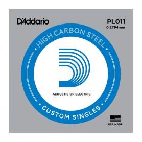 Cuerda suelta D´Addario PL011 plana para eléctrica y acústica