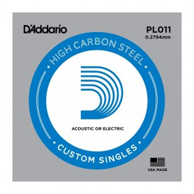 D'Addario Nickel Plain Electric/Acoustic Single String PL011