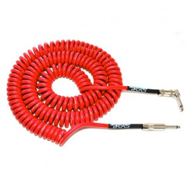Cable-instrumento-Divine-Noise Curly Red 30 Jack-Codo 9m.