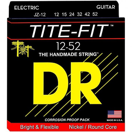 Cuerdas Eléctrica DR Strings JZ-12 Tite Fit 12-52
