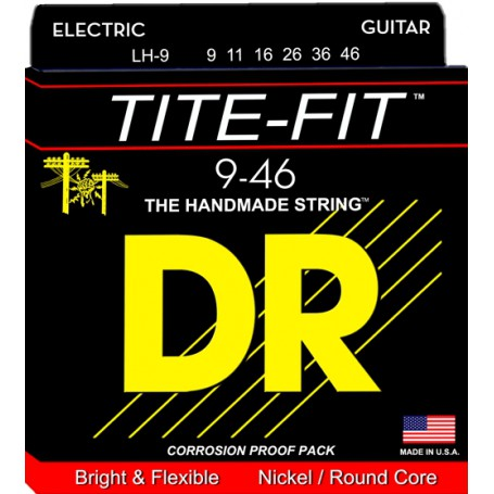 Cuerdas Eléctrica DR Strings Tite Fit 09-46