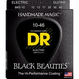 Cuerdas Eléctrica DR Strings BKE-10 Black Beauties 10-46