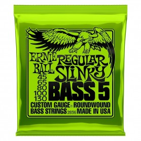 Cuerdas Bajo Ernie Ball 2836 Regular Slinky 45-130 5 Strings-130-5strings