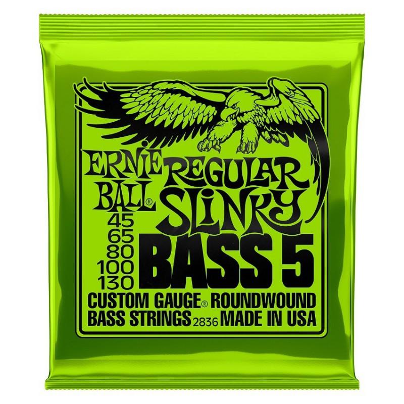 Cuerdas Bajo Ernie Ball 2836 Regular Slinky 45-130 5 Strings-130-5strings