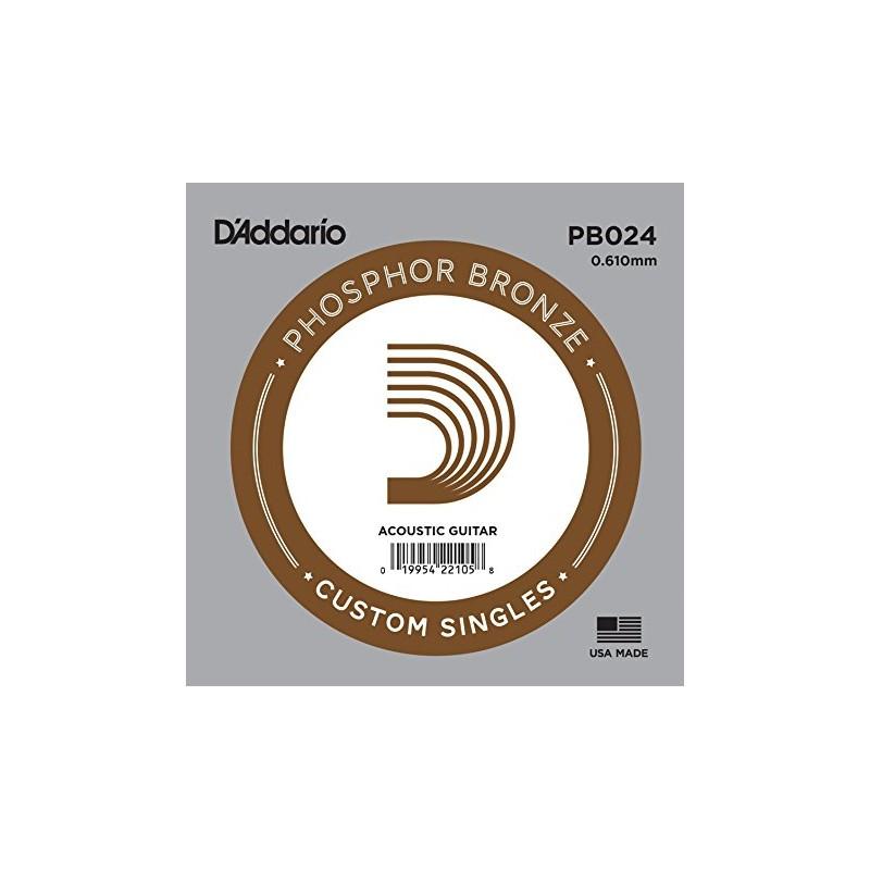 Cuerda suelta D´Addario PB024 acústica Phosphor Bronze