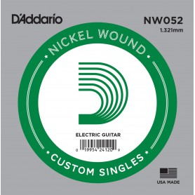 D'Addario Nickel Wound Electric Single String NW052