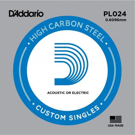 Cuerda suelta D´Addario PL024 plana para eléctrica y acústica