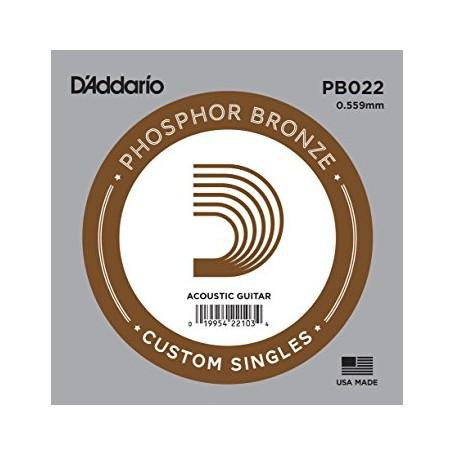 Cuerda suelta D´Addario PB022 acústica Phosphor Bronze