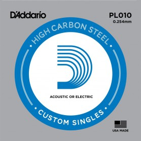 D'Addario Nickel Plain Electric/Acoustic Single String PL010