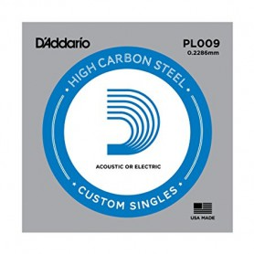 D'Addario Nickel Plain Electric/Acoustic Single String PL009