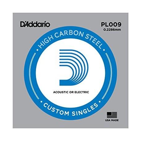 Cuerda suelta D´Addario PL009 Plana para eléctrica