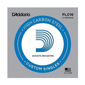 Cuerda suelta D´Addario PL016 plana para eléctrica y acústica