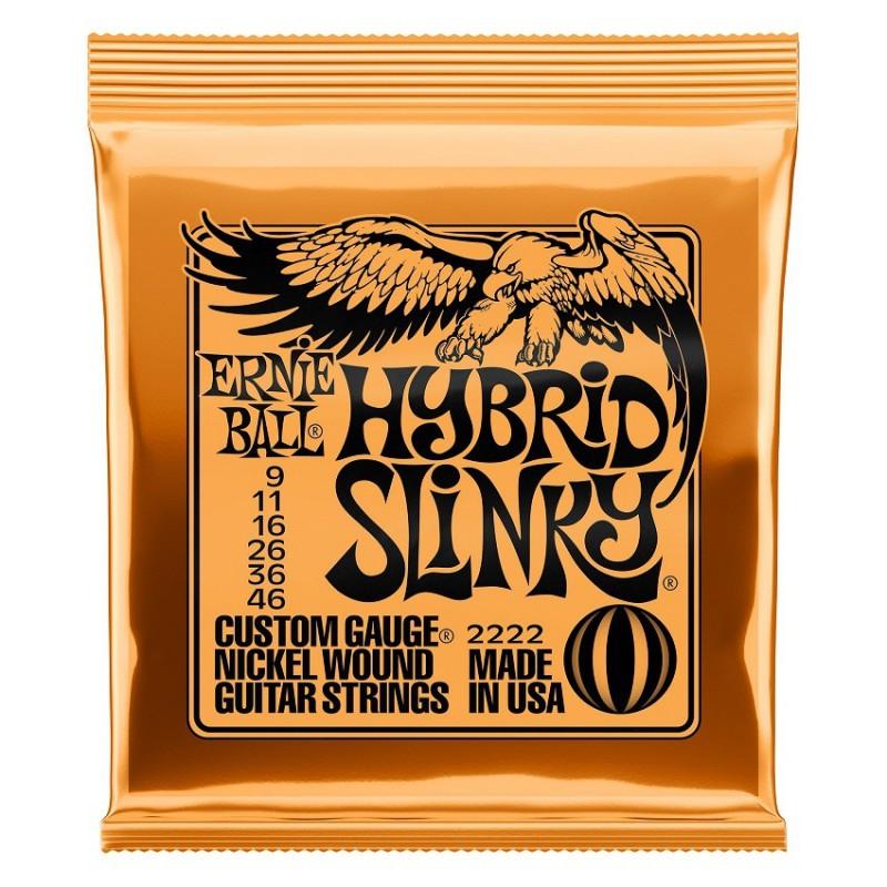 Cuerdas Eléctrica Ernie Ball 2222 Hybrid Slinky 09-46