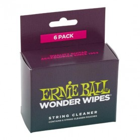 Limpiador de cuerdas Ernie Ball Wonder Wipes String Cleaner 6-pack