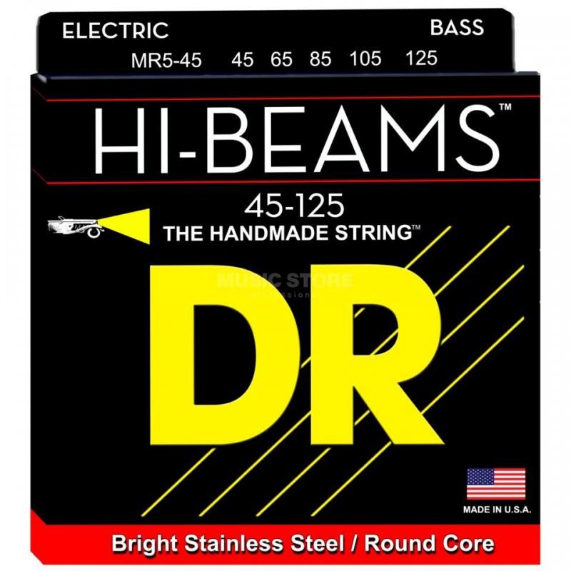 Cuerdas Bajo DR Strings Hi Beams MR5-45 45-125 5 Cuerdas