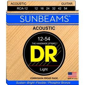 Cuerdas Acústica DR Strings Sunbeams RCA-12 12-54
