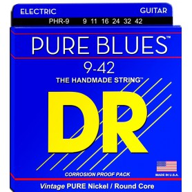 Cuerdas Eléctrica DR Strings PHR-9 Pure Blues 09-42