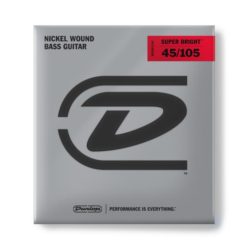 Cuerdas-Bajo-Dunlop-Super-Bright Nickel 45-105