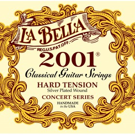 La Bella 2001 Concert Series Hard Tension Classical Guitar Strings