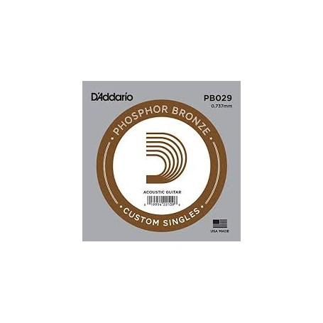 Cuerda suelta D´Addario PB029 acústica Phosphor Bronze