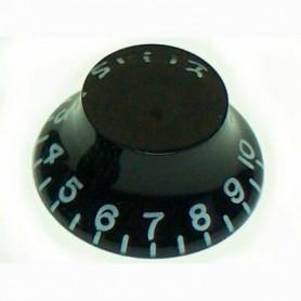 Botó de potenciòmetre negre tipus campana