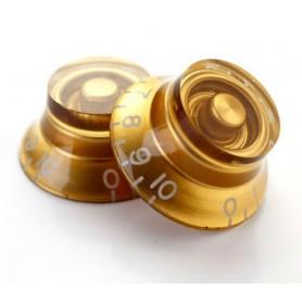Botón de potenciómetro dorado tipo campana