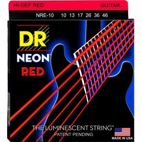Cuerdas Eléctrica DR Strings NRE-10 Neon 10-46 Red