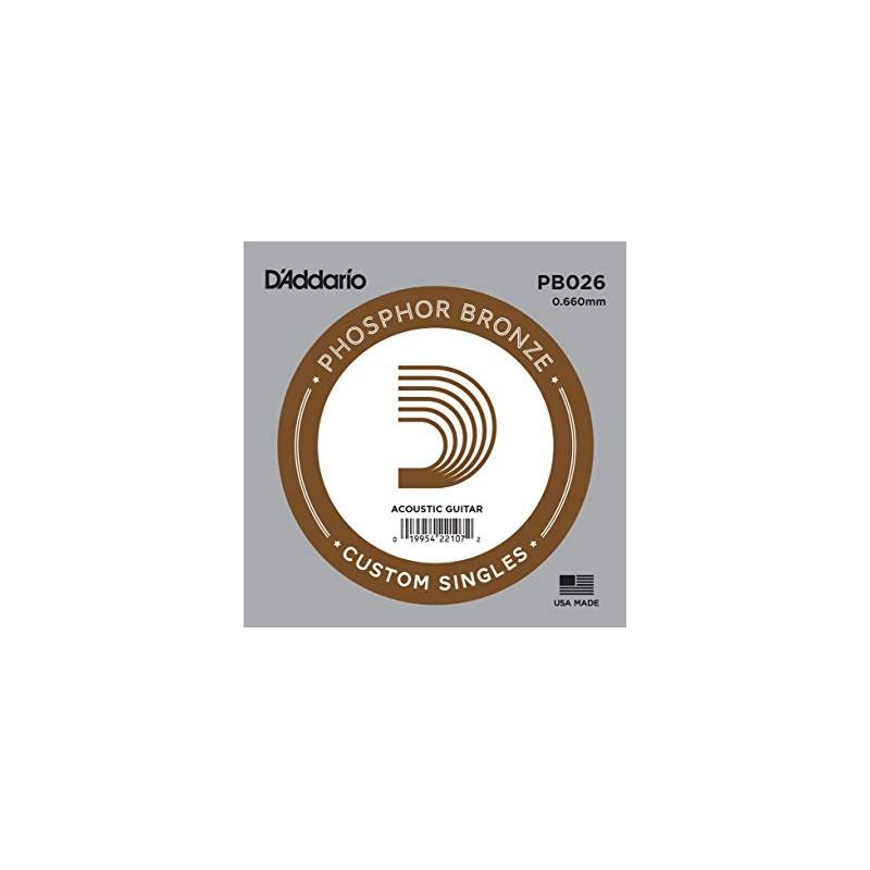 Cuerda suelta D´Addario PB026 acústica Phosphor Bronze