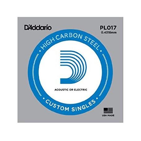 Cuerda suelta D´Addario PL017 plana para eléctrica y acústica