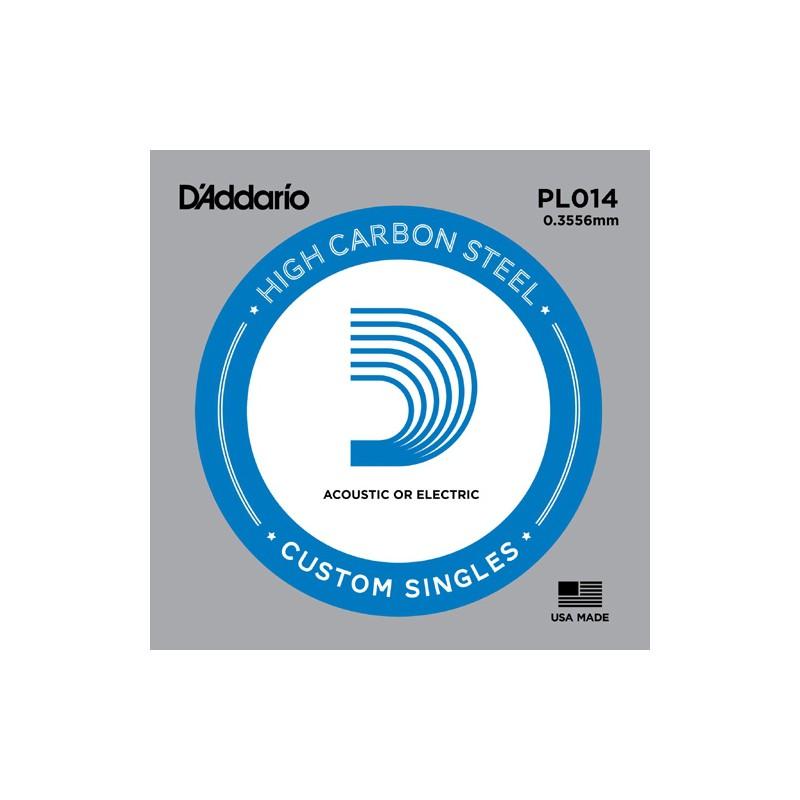 Cuerda suelta D´Addario PL014 plana para eléctrica y acústica