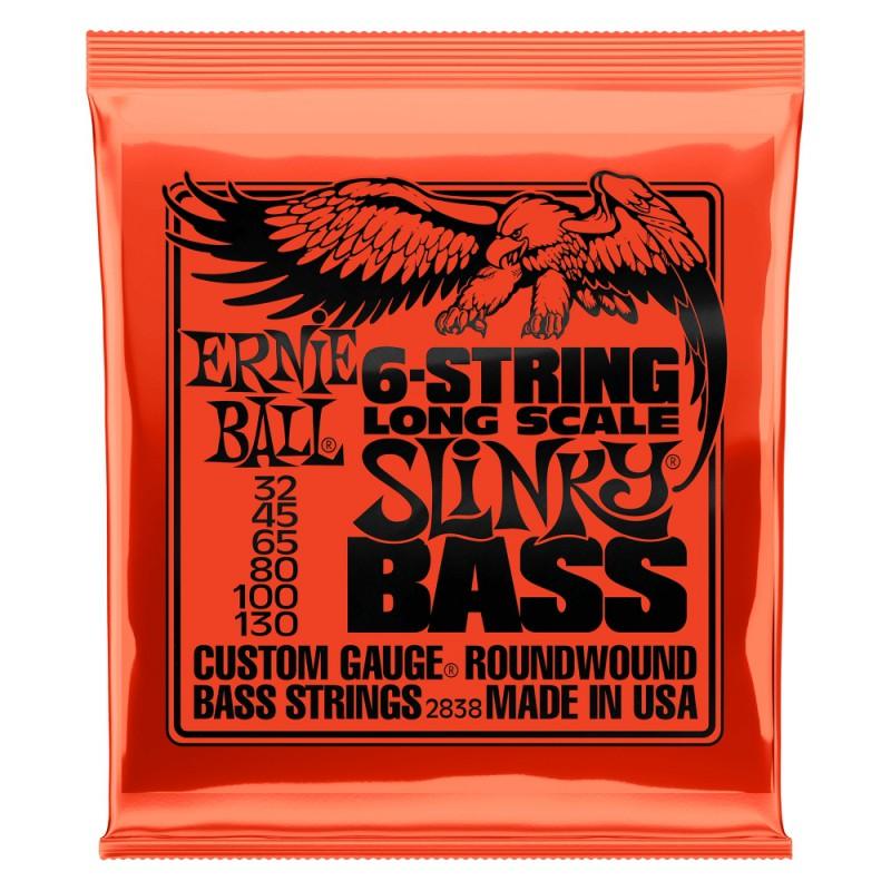 Cuerdas Bajo Ernie Ball 2838 6 Strings Long Scale 32-130-130