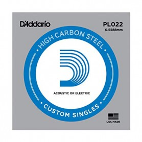 D'Addario Nickel Plain Electric/Acoustic Single String PL022