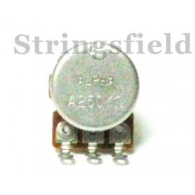 Potenciòmetre audio, 250K, 18mm, diàmetre 16