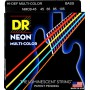 Cuerdas Bajo DR Strings NMCB-45 Neon Multicolor 45-105
