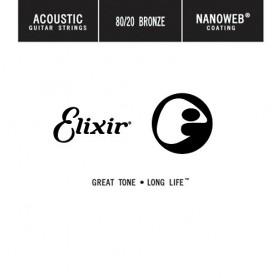 Cuerda suelta Acústica Elixir Nanoweb 022 Entorchada
