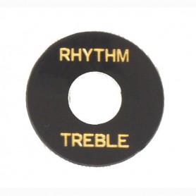 Placa de selector Rhythm & Treble negra