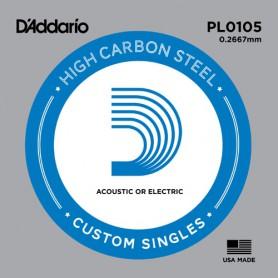 Cuerda suelta D´Addario PL0105 plana para eléctrica y acústica