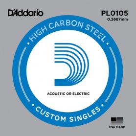 D'Addario Nickel Plain Electric/Acoustic Single String PL0105