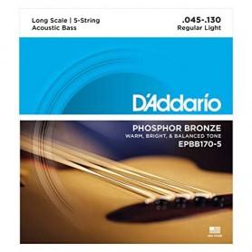D´Addario EPBB170-5 Acoustic Bass Strings 45-130