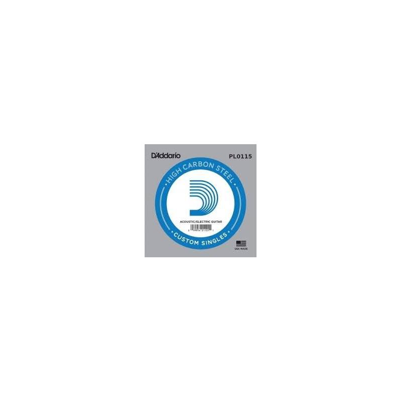 Cuerda suelta D´Addario PL0115 plana para eléctrica y acústica