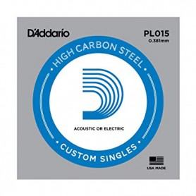 D'Addario Nickel Plain Electric/Acoustic Single String PL015