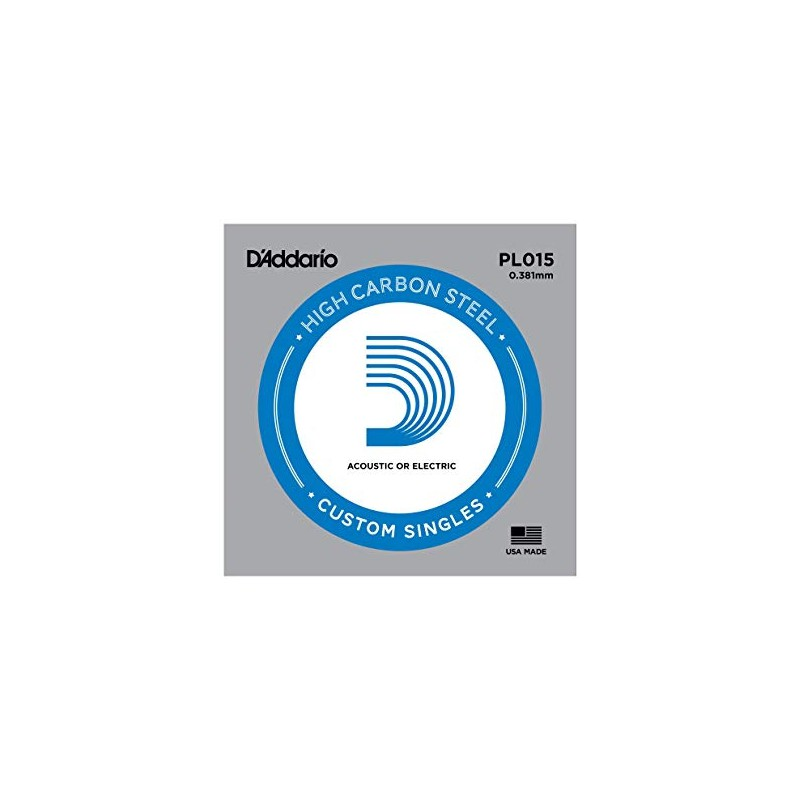 Cuerda suelta D´Addario PL015 plana para eléctrica y acústica