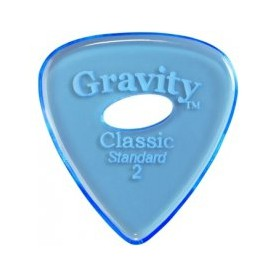 Púa Gravity Picks Classic Standard Elipse Blue 2mm.