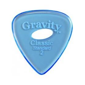 Púa Gravity Picks Classic Standard Elipse Blue 2mm.