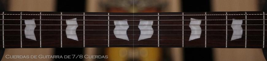 Cuerdas de guitarra eléctrica para guitarras de 7 y 8 cuerdas