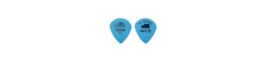 Púas Dunlop Tortex Jazz III XL, Puás de guitarra, Púas Tortex, Picks