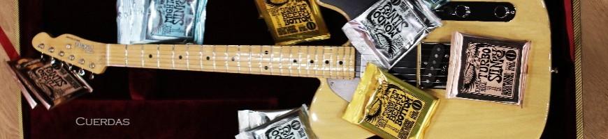 Cuerdas de guitarra, Cuerdas de guitarra electrica, Cuerdas de bajo