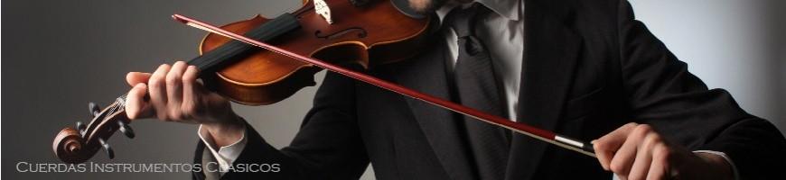 Cuerdas de intrumento clasico, cuerdas de violin, cello y contrabajo